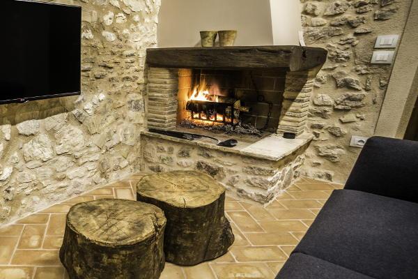 The Fireplace Living Room Black Truffle Lodge