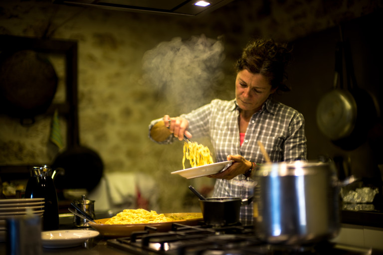 The cuisine at the Black Truffle Lodge